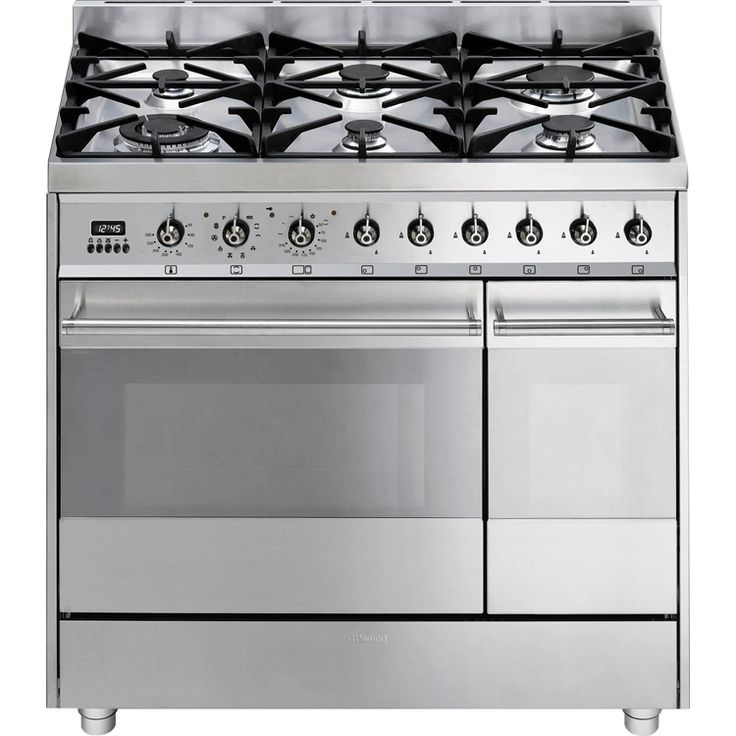 Buy Smeg Symphony SY92PX8 90cm Dual Fuel Range Cooker (SY92PX8) - Stainless Steel | Marks Electrical