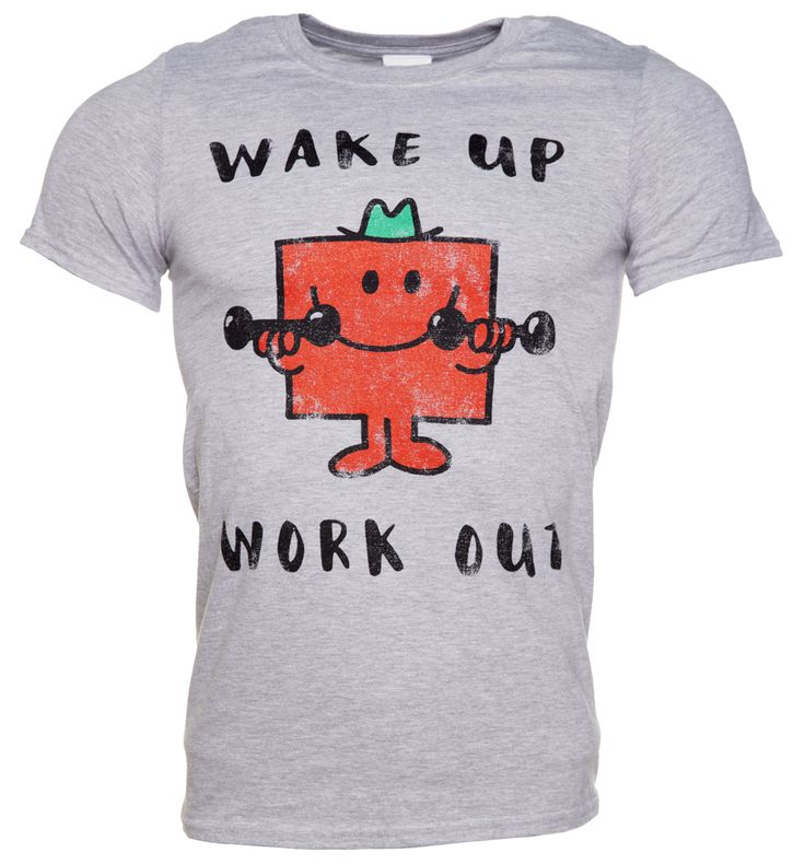TruffleShuffle Mens Mr Strong Wake Up Work Out Mr Men T-Shirt If your natural habitat is the gym and youre at your perkiest pumping iron, then this Mr Strong tee, with the mantra Wake Up, Work Out, is the perfect purchase for you! http://www.MightGet.com/february-2017-3/truffleshuffle-mens-mr-strong-wake-up-work-out-mr-men-t-shirt.asp