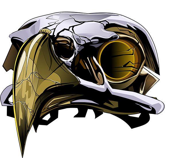 eagle skull on Behance | vector images | Pinterest ...