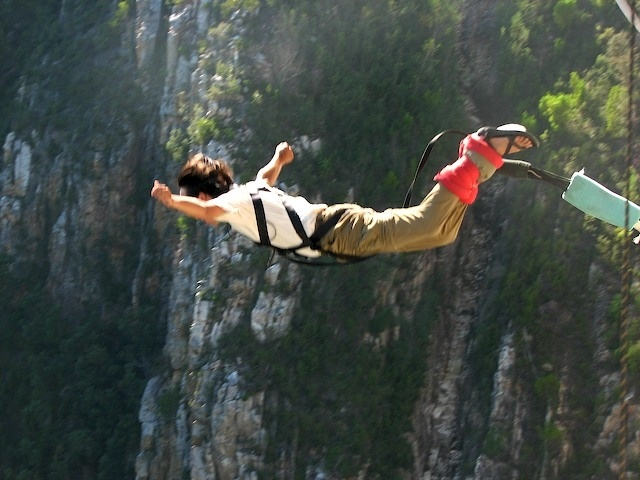 Do you dare? If so, bungy jump off Bloukrans bridge in South Africa.
