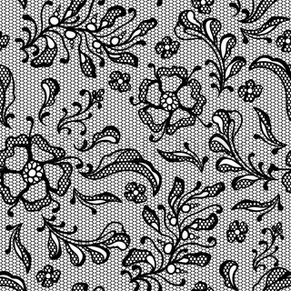Vintage lace background, ornamental flowers Vector texture stock vector