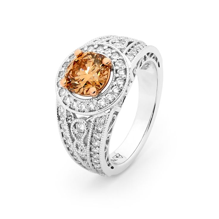 Australian Chocolate Argyle Diamond set in white gold