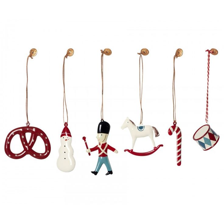Maileg Set of Six Classic Ornaments in a Box