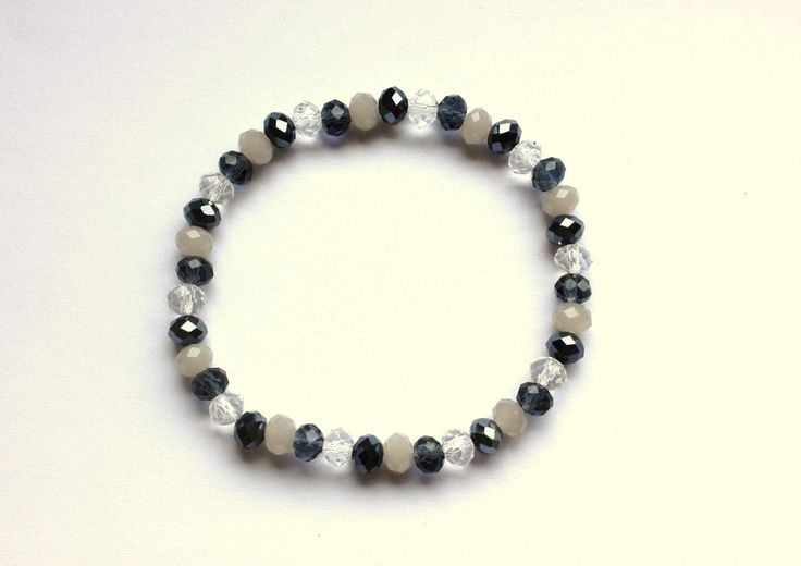 Multicolor bracelet made from faceted glass from Especially for You by http://en.dawanda.com/shop/Especially-4-You