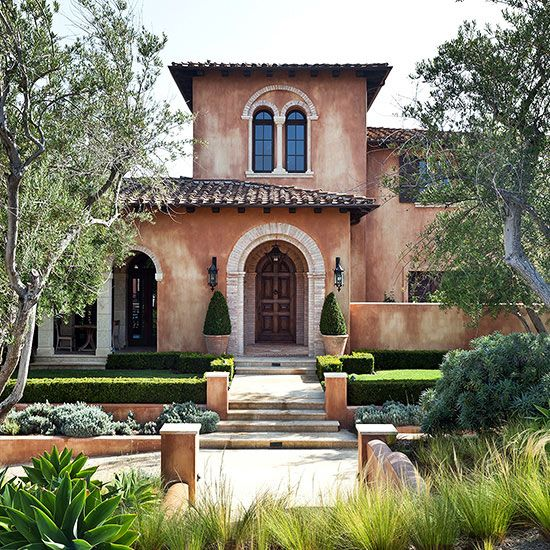 25 best ideas about mediterranean style homes on for Spanish style exterior
