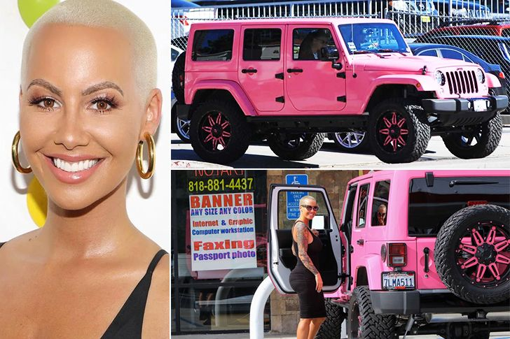 Amber Rose – Pink Jeep Wrangler Unlimited, Estimated $150K Amber Rose is one of the most talked-about people in the Hollywood industry. She recently made headlines when she appeared on Los Angeles streets in her shiny new, pink Jeep Wrangler that costs around $150K. She pays a great deal of money for her car insurance …
