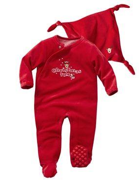 pyjama velours b b mixte et son doudou rouge pyjama b b s mixtes et velours. Black Bedroom Furniture Sets. Home Design Ideas