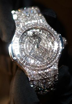Hublot watch with 1,282 diamonds and cost 5 million dollar! It's gorgeous!  NOW THIS IS WHAT I CALL BLING