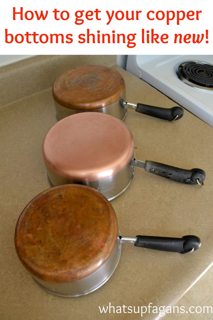 How to get copper pots bottoms shining like new! DIY Cleaning Tip Hack that is green and natural and inexpensive!