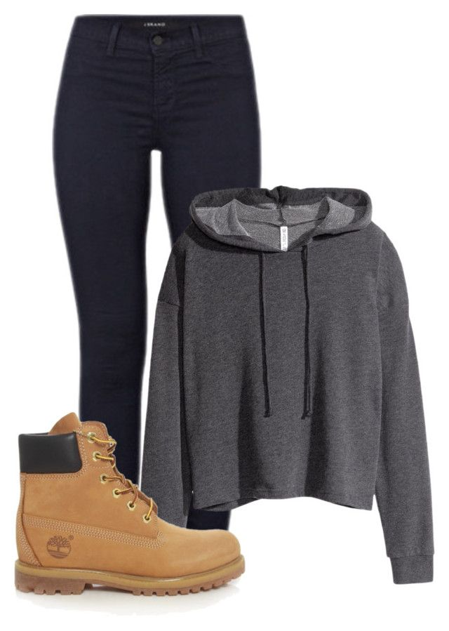 """Unbenannt #528"" by princesss1994 ❤ liked on Polyvore featuring J Brand, H&M and Timberland"