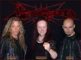 English heavy metal band Venom, from Newcastle, crystallized the elements of what later became known as thrash metal, death metal and black metal, with their 1981 album Welcome to Hell.[14] Their dark, blistering sound, harsh vocals, and macabre, proudly Satanic imagery proved a major inspiration for extreme metal bands.