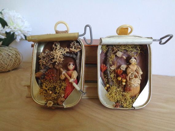 188 best images about sardine cans on pinterest recycled for Empty sardine cans