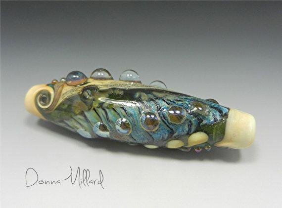 sra handmade lampwork glass focal bead donna by
