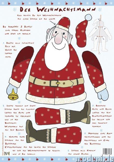 Printable Jointed Paper Dolls | Der Weihnachtsmann | paper dolls