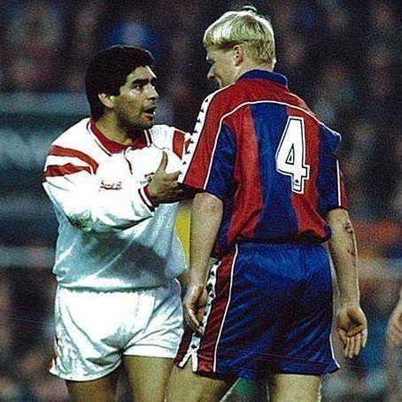 Maradona and Ronald Koeman