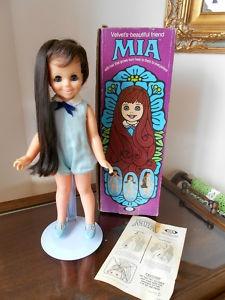 Mia grow hair vintage doll
