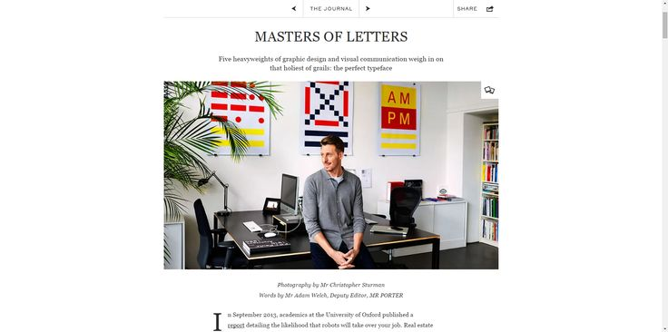 MR PORTER: MASTERS OF LETTERS