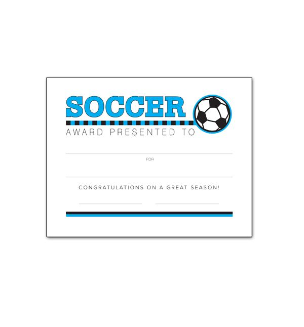 Best Images About Soccer Certificates On   Free