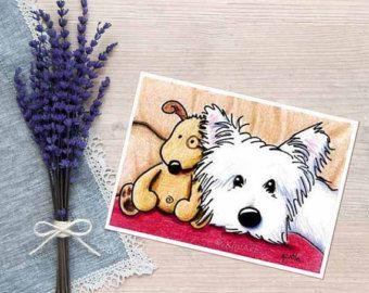 Westie Hund Impressionen iPad Malerei signiert kleine