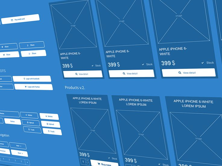 AXURE UI kit.  Blueprint style Fonts Awesome icons library >>DOWNLOAD HERE<<  https://creativemarket.com/marcoo/189114-Axure-UI-kit-%28web-and-ecommerce%29