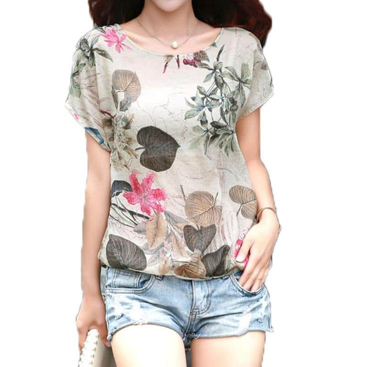 Cotton Linen Summer Blouses //Price: $10.95 & FREE Shipping //     #fashion