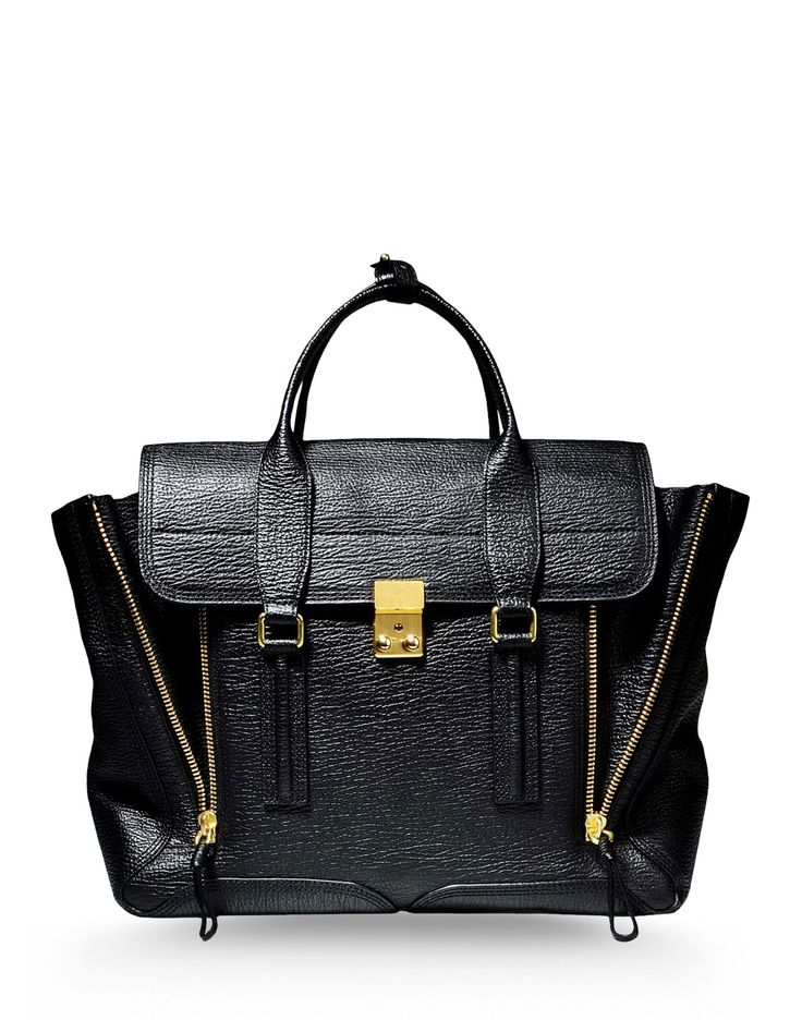 Pashli Medium Satchel in Black by 3.1 PHILLIP  LIM #bag #handbag #musthave #leather