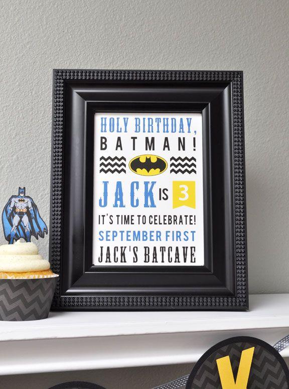 Batman Birthday Subway Art