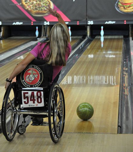 Bowling at 2013 Veterans Wheelchair Games