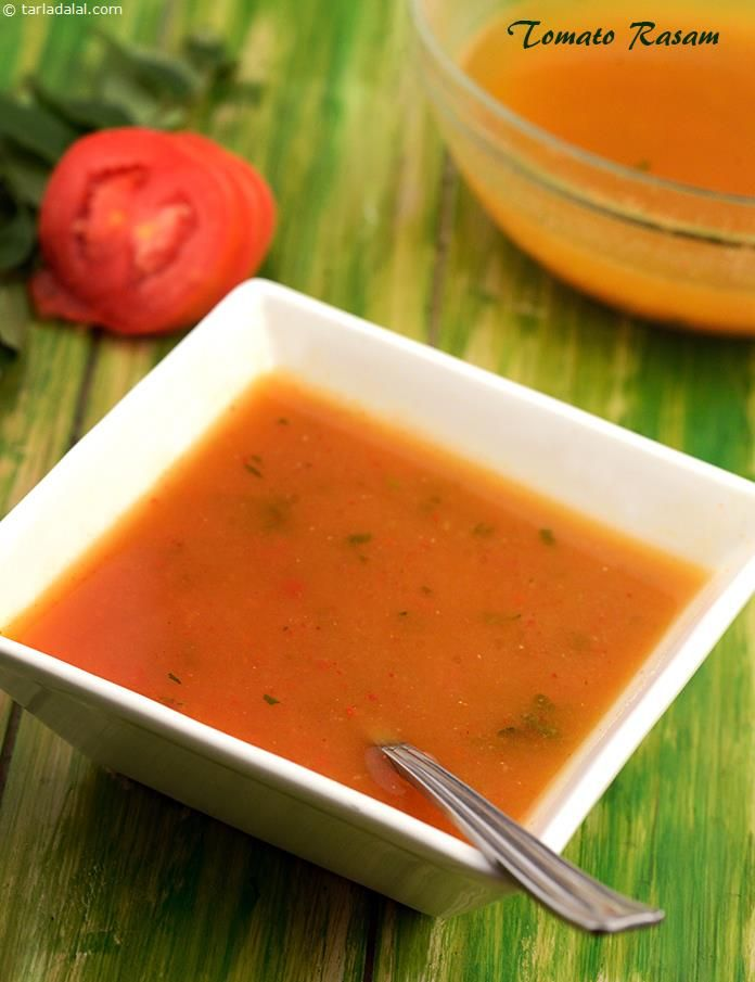 Tomato Rasam, a perfect recipe for you to enjoy the true flavours of home-made south Indian cooking. Rasam is an essential part of every south Indian meal, and is usually served as the second main course following sambhar