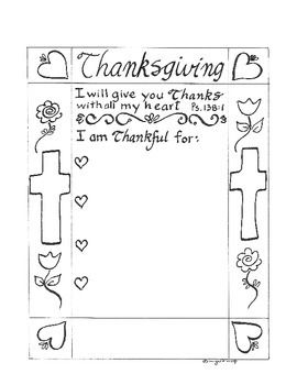 catholic coloring pages thanksgiving printable - photo#3