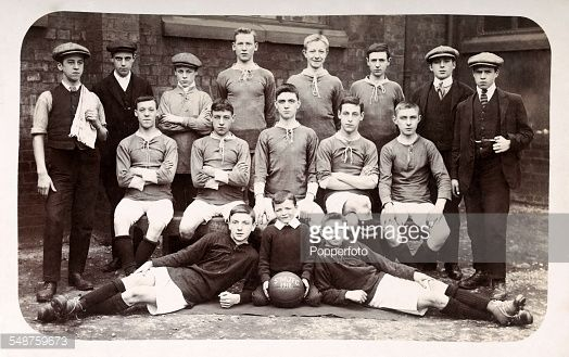 St Matthews School Fooball Team  The Junior Football Club of St Matthew's School in Preston, circa 1912.