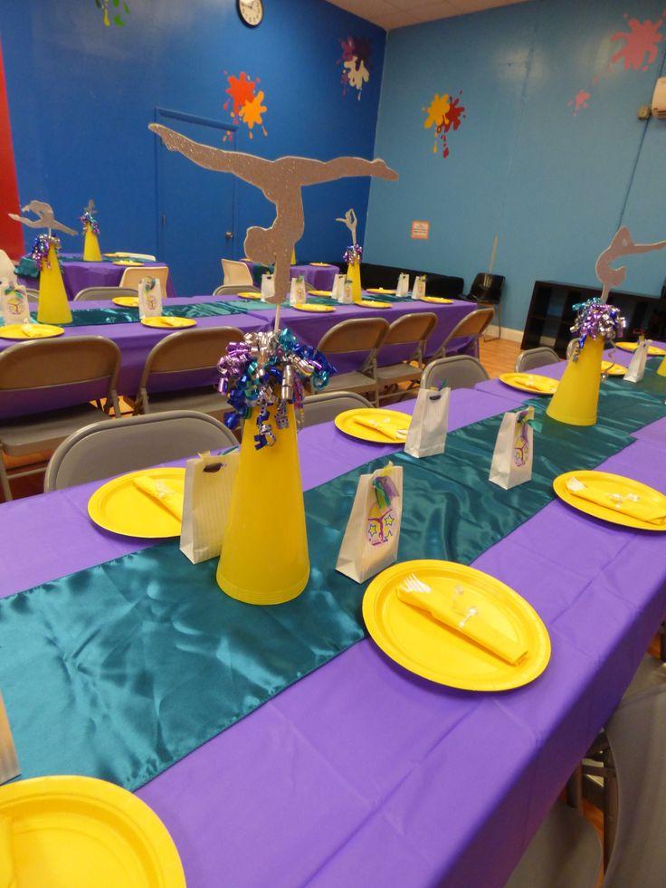 Gymnast centerpieces....banquet decor