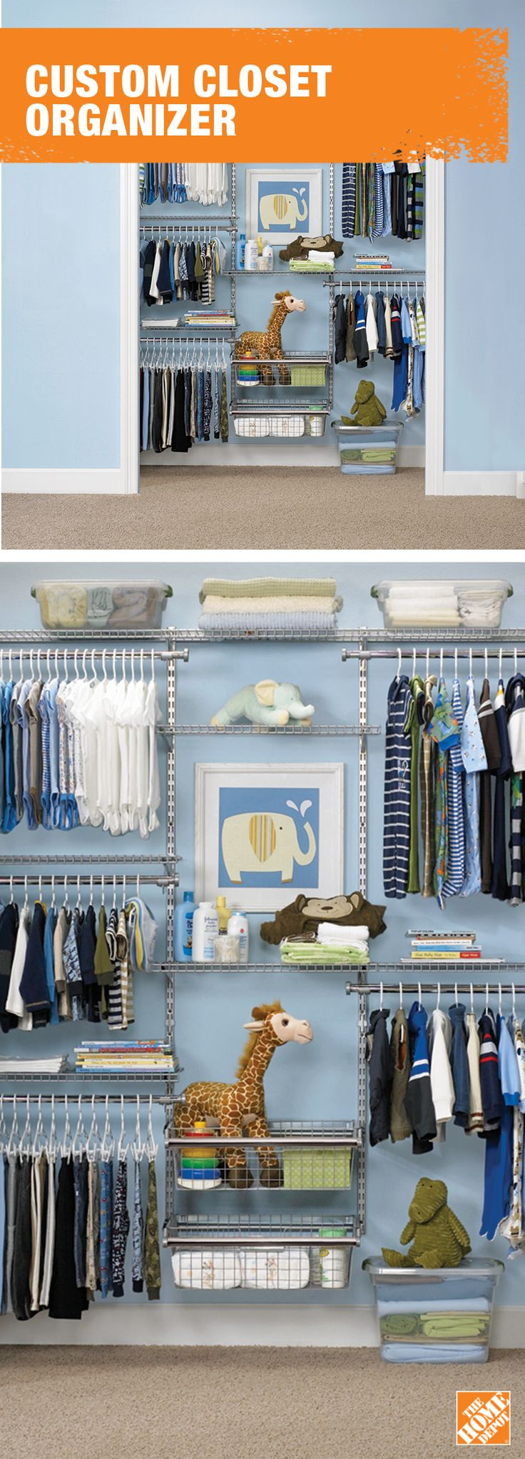 Tidy-up time can't get any more satisfying with a closet this organized. Learn more about custom storage solutions at homedepot.ca: http://hdepot.ca/2wHAwzO