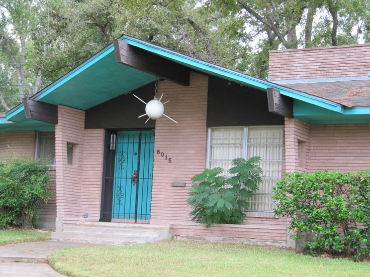 23 best mid century modern exteriors images on pinterest for Mid century modern architects houston