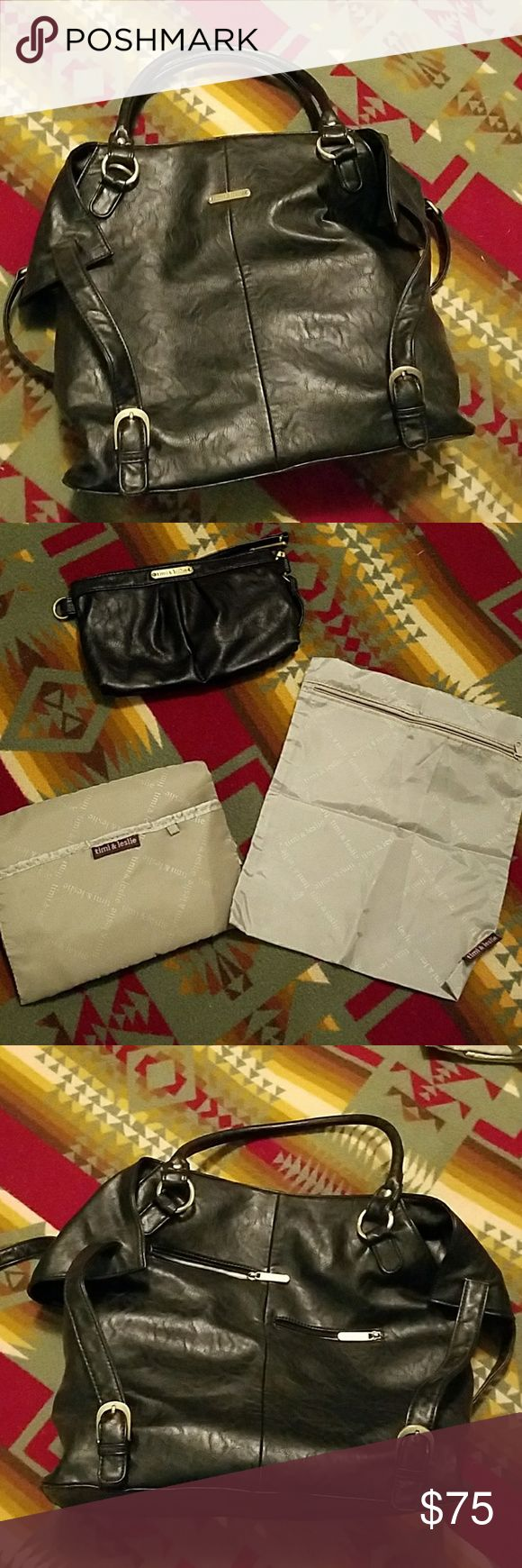 "Timi & Leslie ""Charlie"" Diaper Bag Comes with clothes bag, wristlet and changing pad. No bottle cooler. EUC. Timi & Leslie Bags Baby Bags"