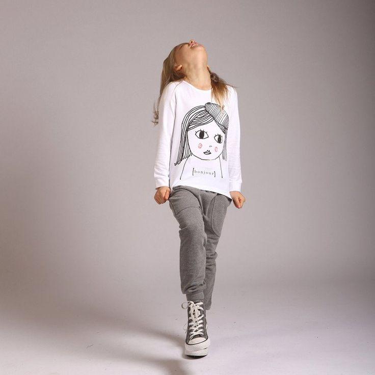 Littlehorn Bonjour Tshirt in White