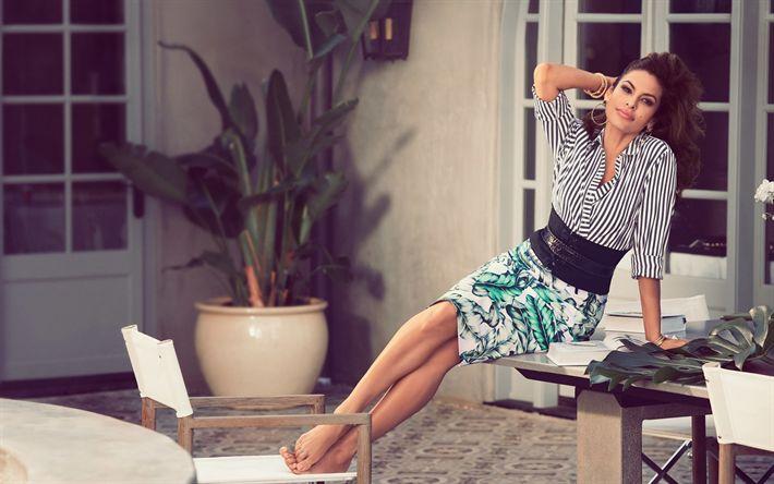 Hämta bilder Eva Mendes, Amerikansk skådespelare, porträtt, vacker kvinna, Amerikanska kändisar