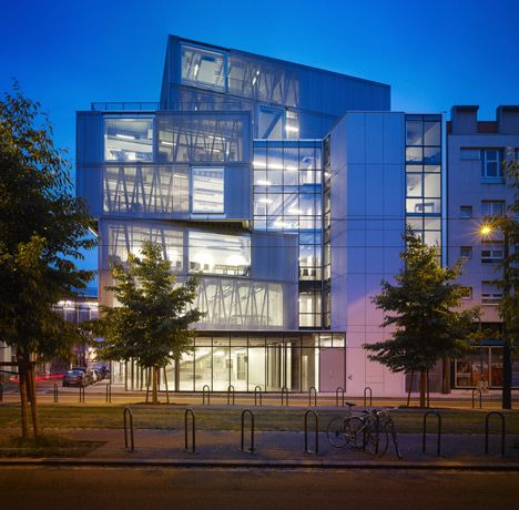 aluminium clad building by marc mimram added to strasbourg architecture school universities. Black Bedroom Furniture Sets. Home Design Ideas