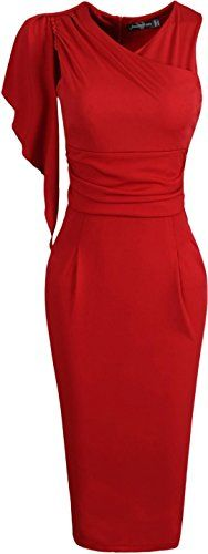 jeansian Women's Elegant Party Slim Flounced Pleated Sleeves Evening Gowns Pencil Business Dresses WKD174 Red L Jeansian http://www.amazon.co.uk/dp/B01A0KLO0Y/ref=cm_sw_r_pi_dp_HHlKwb1GN00ZF