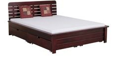 Buy Mexico Solid Wood King Sized Bed with storage in Passion Mahogony Finish by Woodsworth by Woodsworth online from Pepperfry. ✓Exclusive Offers ✓Free Shipping ✓EMI Available