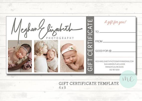 Gift Card Template Psd Certificate Gift Card Template Photography Gift Certificate Template Gift Certificate Template