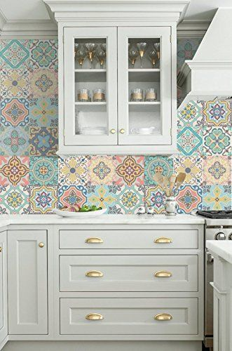 "Vinyl decal self-adhesive Portuguese sticker Tiles BELEM Collection (Pack of 12) (6""x6""