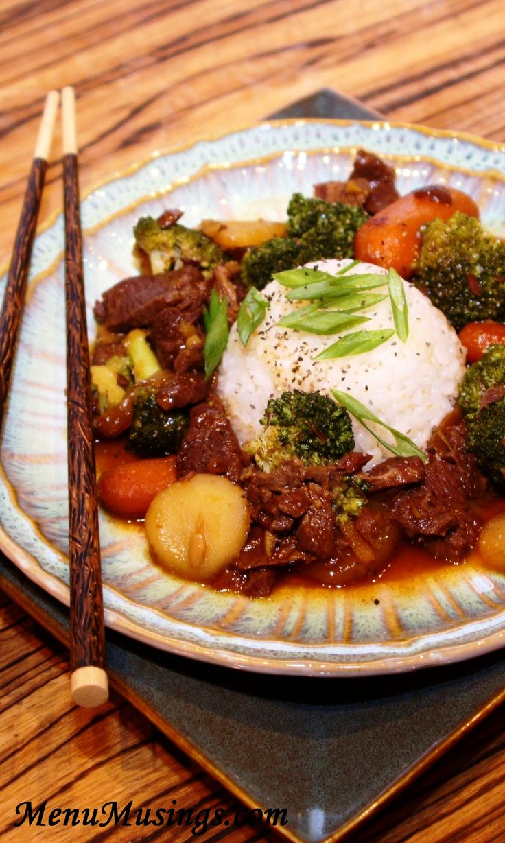 Crock Pot Beef and Broccoli - stir-fry beef, soy sauce, fresh ginger, garlic, vegetables...awesome recipe.