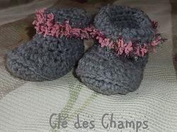 Pantoufles  crochet 8