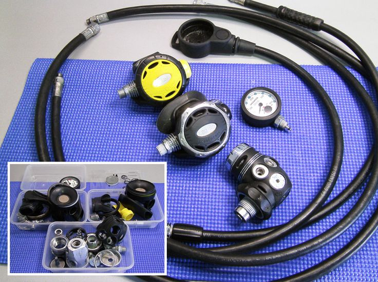 I strip and clean every component of regulators, gauges and hoses when carrying out a full service at Dive Repairs.