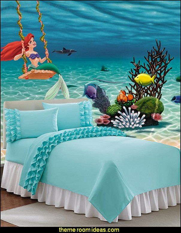 Little Mermaid Ariel Theme Bedroom Mermaid Decor Disney The