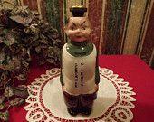 """Antique 1950s Laundry Sprinkler Bottle, Asian Laundry Man says """"Sprinkle Plenty"""" Rare Ceramic"""