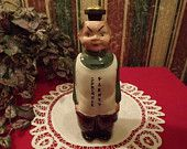 "Antique 1950s Laundry Sprinkler Bottle, Asian Laundry Man says ""Sprinkle Plenty"" Rare Ceramic"