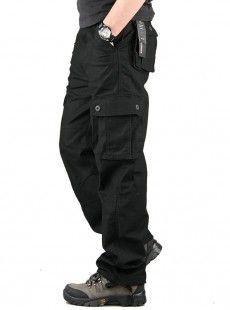 Erkek Siyah Kargo Pantolon