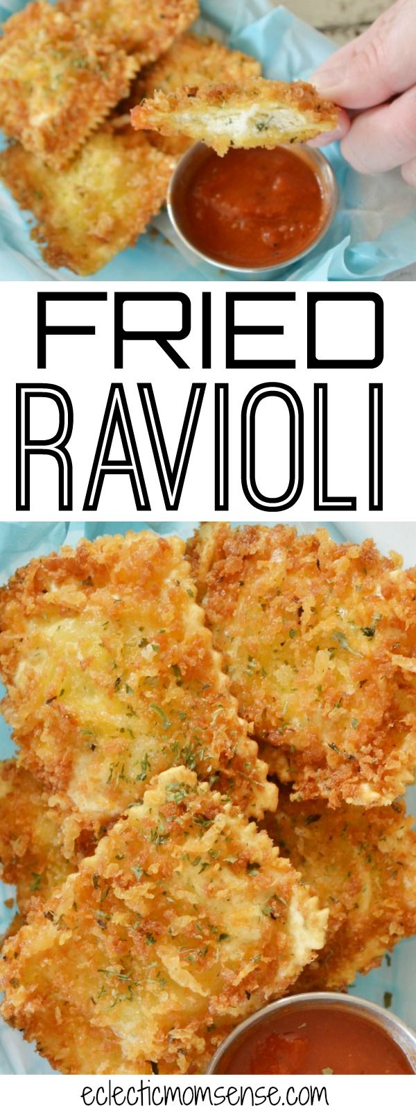 Fried Ravioli | Crispy outside with a creamy and zesty filling.